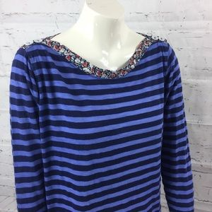 Anthropologie Poshmark Medium Striped Top Floral